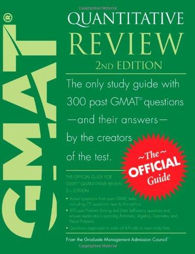 Gmat quantitative review (2nd edition) bookoutlet. Com.